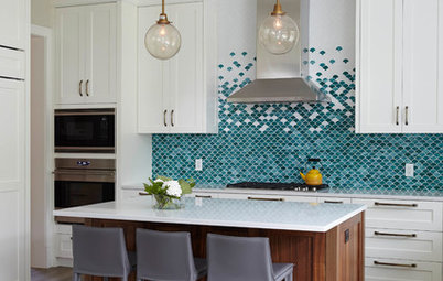 Trending Now: Color and Pattern Make These Backsplashes Stand Out
