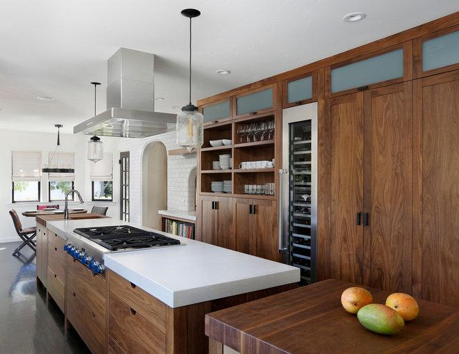 Transitional Kitchen by Bernard Andre Photography