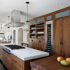 Transitional Kitchen by Bernard Andre Photography