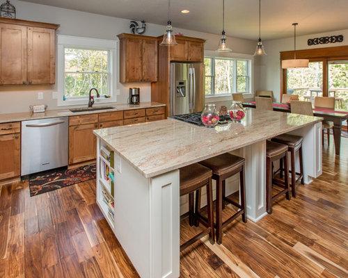 Acacia floors houzz for Acacia kitchen cabinets