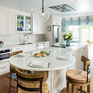 Falmouth Cape Cod Kitchen with Fireplace