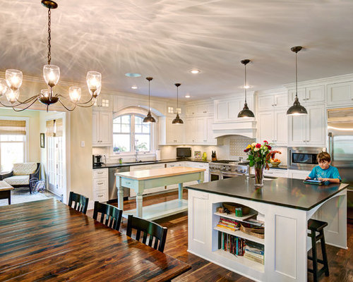 Sunroom kitchen houzz for Kitchen with sunroom attached