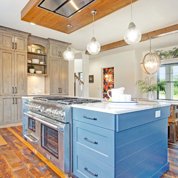 Family Farm - Kitchen with Dining Room beyond