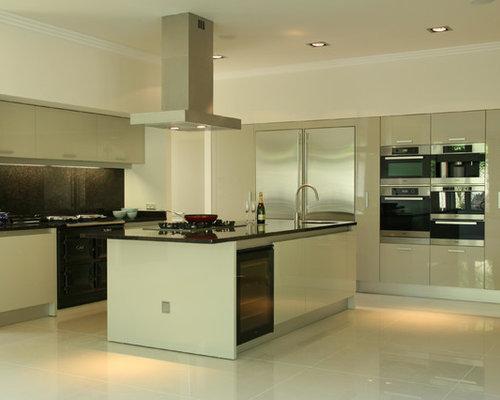 Dublin Kitchen Design Ideas Renovations Photos With Brown Splashback