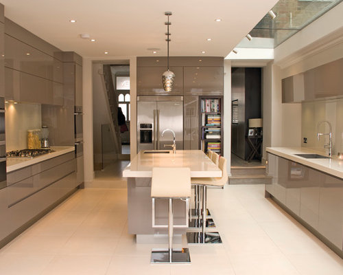High gloss kitchens houzz for Kitchen designs high gloss