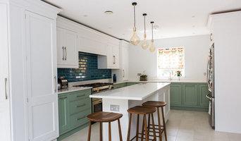 Family Kitchen with Striking Blue Tiles