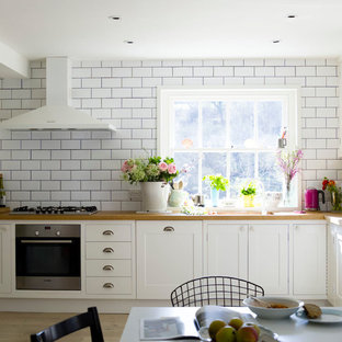 White Subway Tile Dark Grout Kitchen Houzz