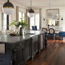 Transitional Kitchen by Heather Garrett Design