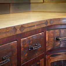 Rustic Kitchen by Elements Concrete