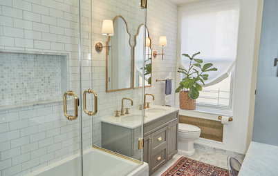 A Warm, Elegant and Highly Functional Master Bath