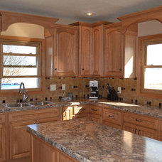 Traditional Kitchen by House of Glass, Inc.
