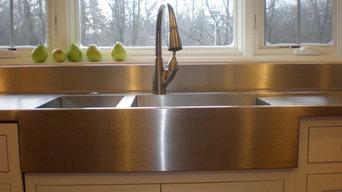 Farmer Style Stainless Steel Kitchen Countertop