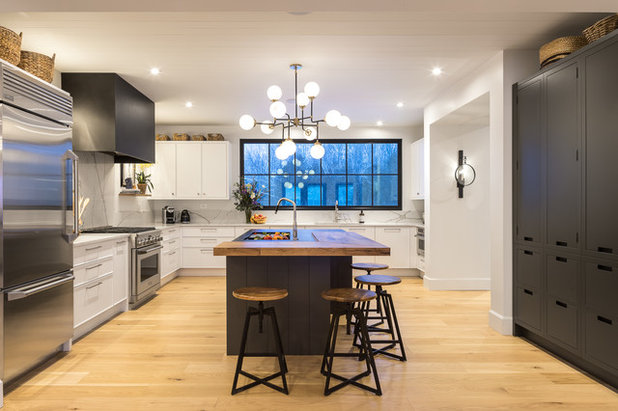 Transitional Kitchen by Astro Design Centre
