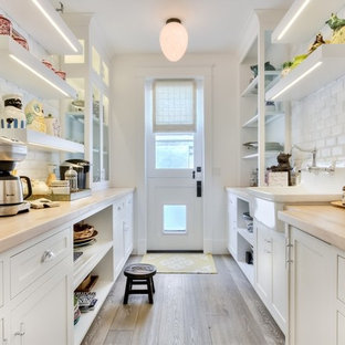 Farmhouse Kitchen Pantry Pictures Cottage Galley Medium Tone Wood Floor