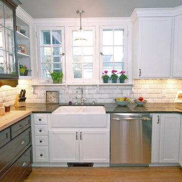 Farmhouse-inspired kitchen