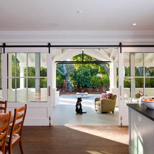 Inspiration for a farmhouse medium tone wood floor kitchen remodel in San Francisco
