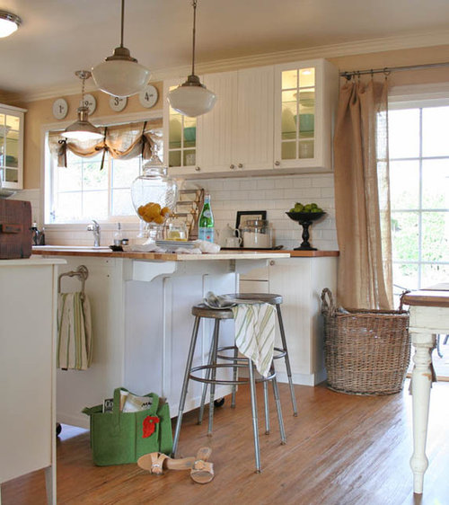 Kitchen Window Furnishings: Burlap Curtain Home Design Ideas, Pictures, Remodel And Decor