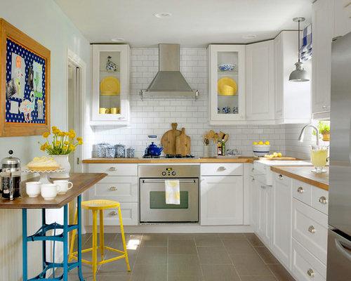 landhausstil k chen mit porzellan bodenfliesen ideen bilder houzz. Black Bedroom Furniture Sets. Home Design Ideas