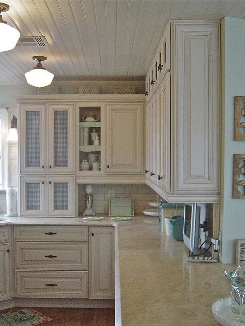 Almond Paint U shaped Kitchen Design Ideas Renovations amp Photos