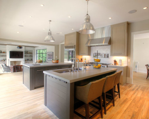 two island kitchen houzz