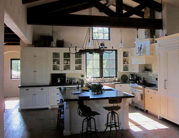 Farmhouse Open Concept Kitchen in Montecito, CA