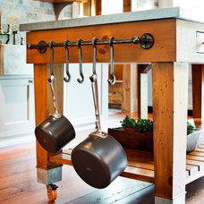 Eclectic Kitchen by South Shore Millwork