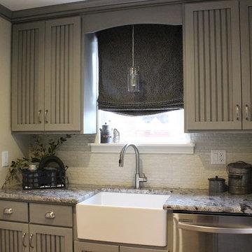 Farmhouse Style Gray Kitchen