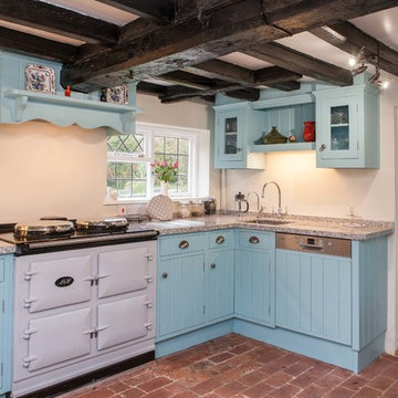 Farmhouse style kitchen in old cottage