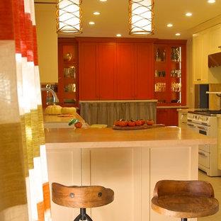 Farmhouse traditional buttercream kitchen