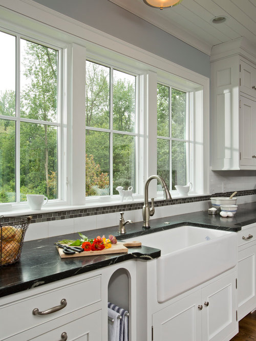 75 Country Kitchen with Recessed-panel Cabinets Design ...