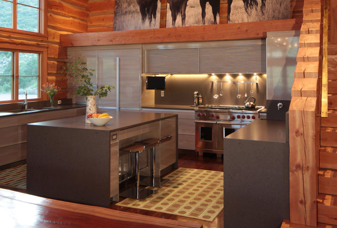 Rustic Kitchen by Yunker Associates Architecture