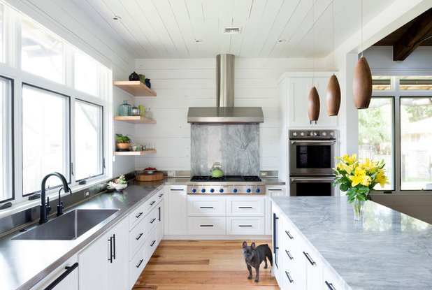 Transitional Kitchen by Home Design & Decor Magazine