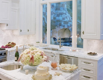 Featured in Gentry Magazine & CalFinder - Danenberg Design White Kitchen