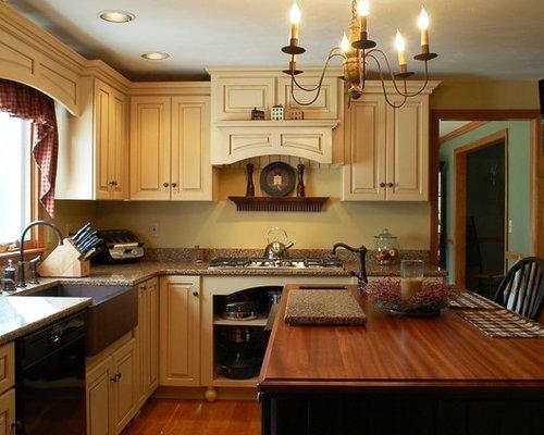 Boston Kitchen Design Ideas Renovations Photos With Yellow Splashback