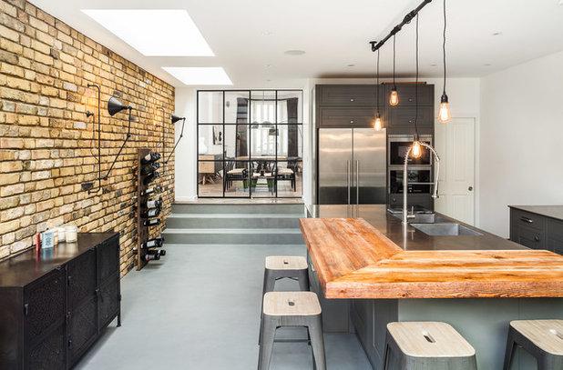 インダストリアル キッチン by Jo Cowen Architects