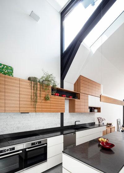 コンテンポラリー キッチン by anderson architecture