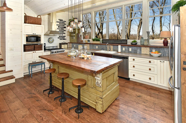 Rustic Kitchen by Architectural Overflow, LLC