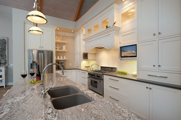 Transitional Kitchen Finding a Vintage Vibe with New Construction in Kelowna, BC