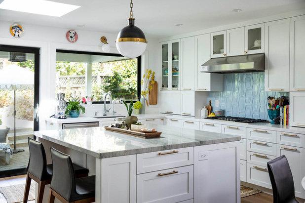 Transitional Kitchen by Fiorella Design