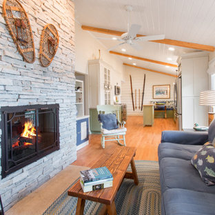 Fireplace at Cozy Lake Cottage