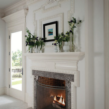 Fireplace with Heavy Crown Moulding