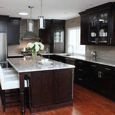 Transitional Kitchen by Lark Interior Design