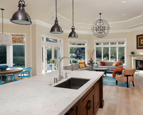 Taj mahal granite home design ideas pictures remodel and decor - Caesarstone sink kitchen ...