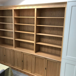 Fitted Kitchen Bookcase Light Oak Finish