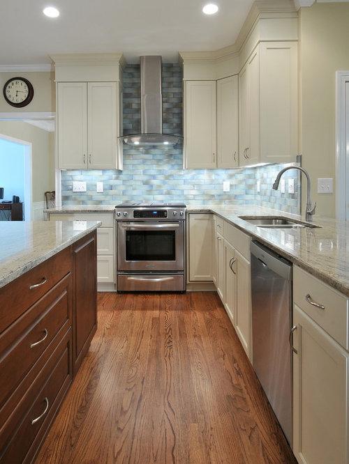 Grey Blue Backsplash Home Design Ideas, Pictures, Remodel ...