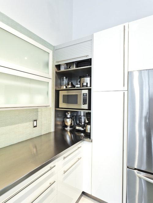 Modern Appliance Garage Cabinet In Corner Home Design ...