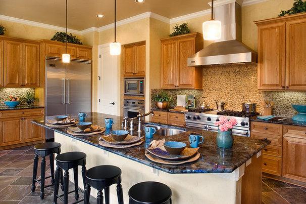 Mediterranean Kitchen by Infinity Design, Inc.