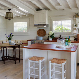 Small Beach Style Open Concept Kitchen Inspiration L Save Photo Flip Flop