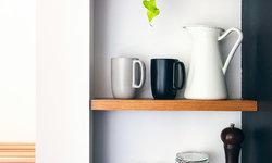 Floating Spice Rack Shelves in Kitchen