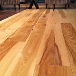 Flooring - Our Wide Rustic Hickory plank flooring installed at our flagship location.